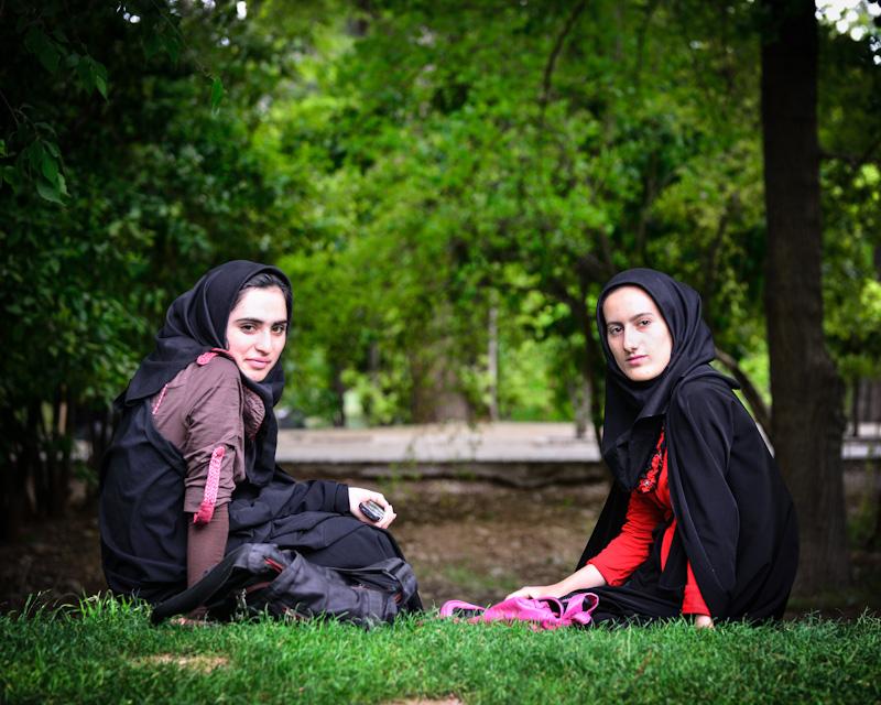Friends in a park, Shiraz