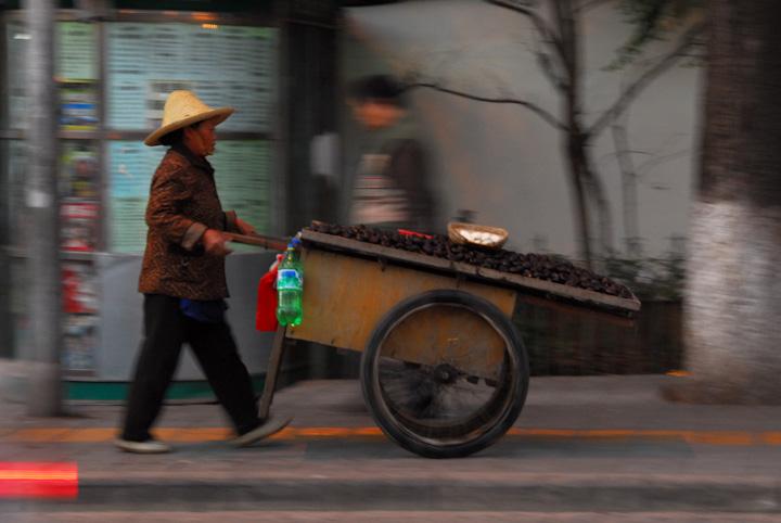 Chestnut seller, Kunming
