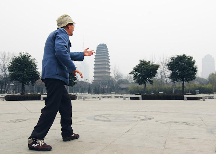 Tai Chi time in Xian