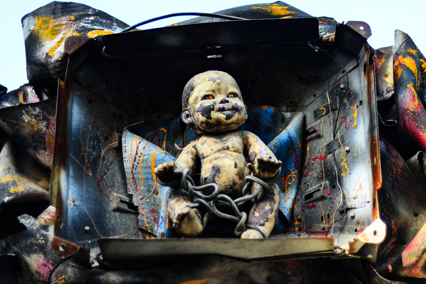 Chained up voodoo baby