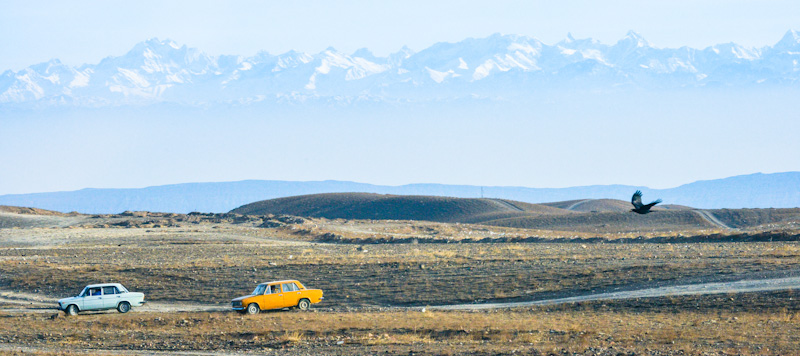 Racing Ladas in Tajikistan