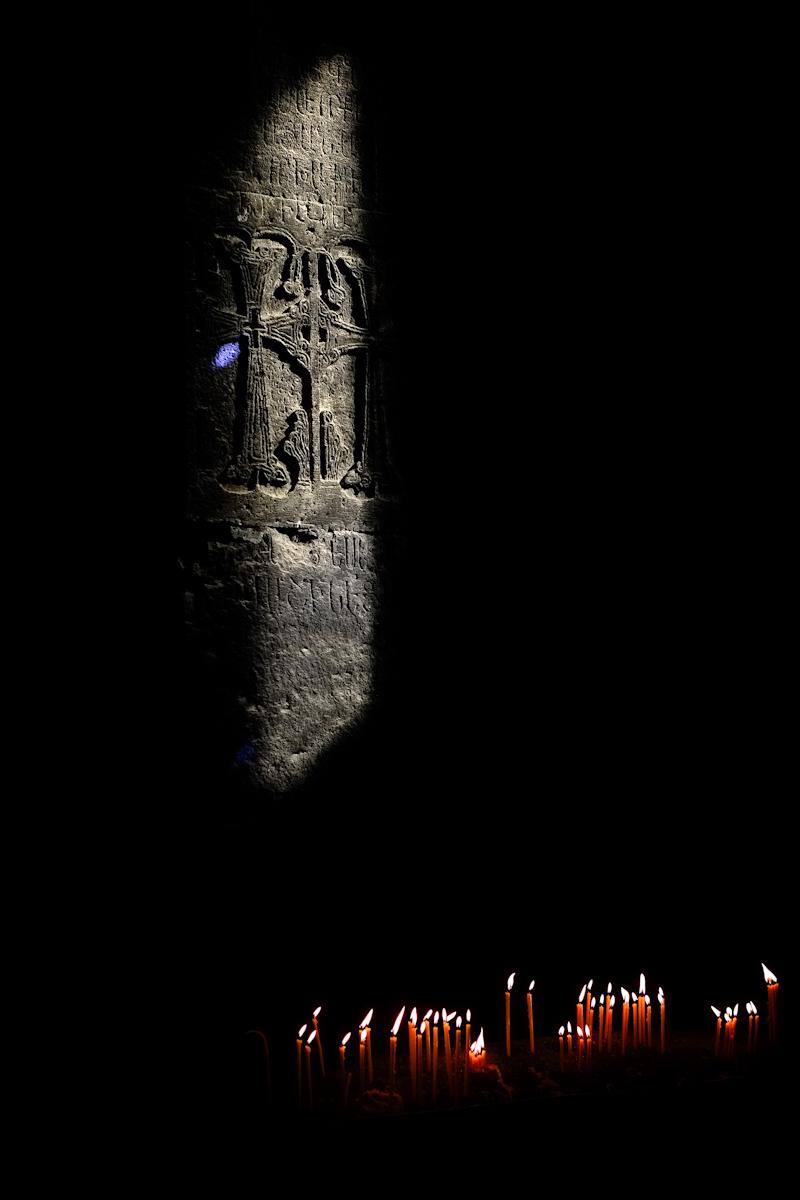 Gerhard Monastery candles, Armenia