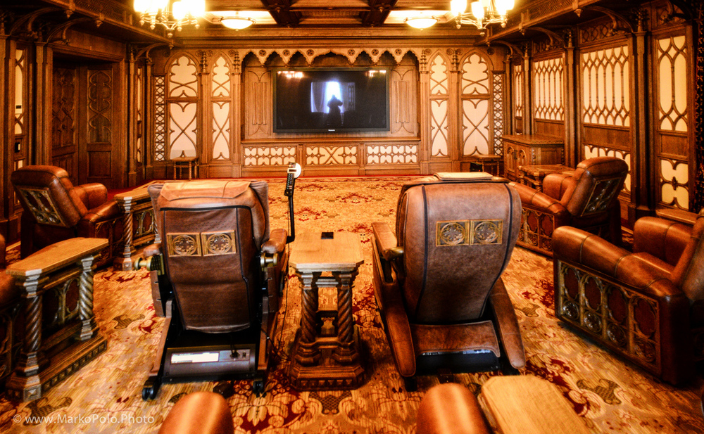 Movie theater in a 1900's oil baron style...it was more ugly in person...i threw up in my mouth...twice