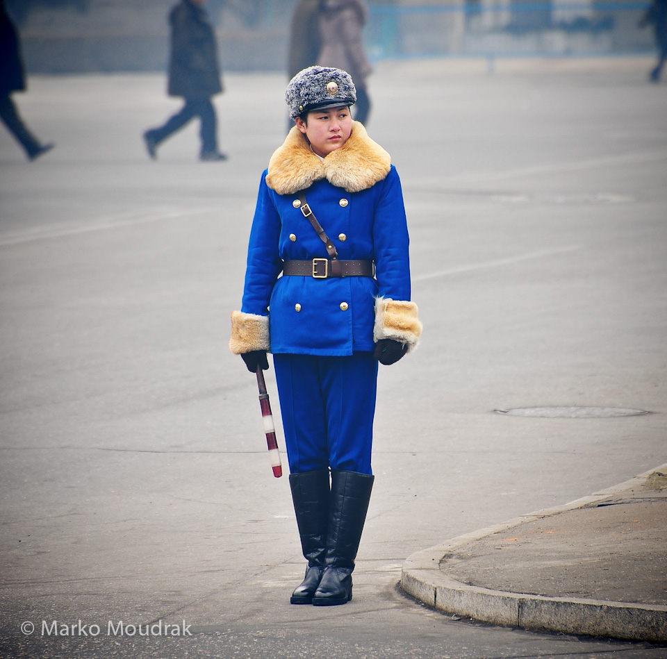 Famous Pyongyang traffic police girls