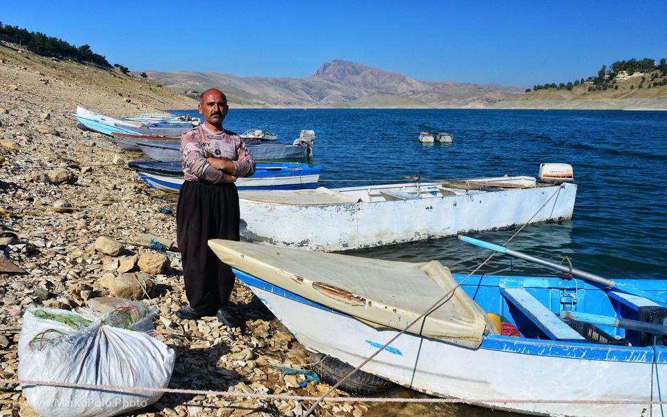 Fisherman at a Dokal Lake