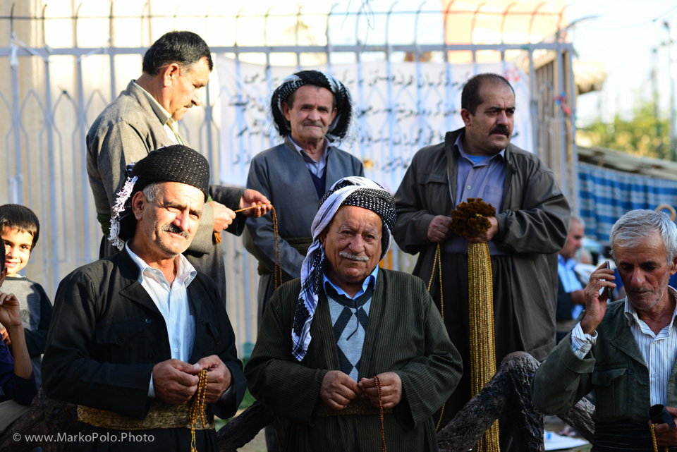 Kurdish men enjoying the evening