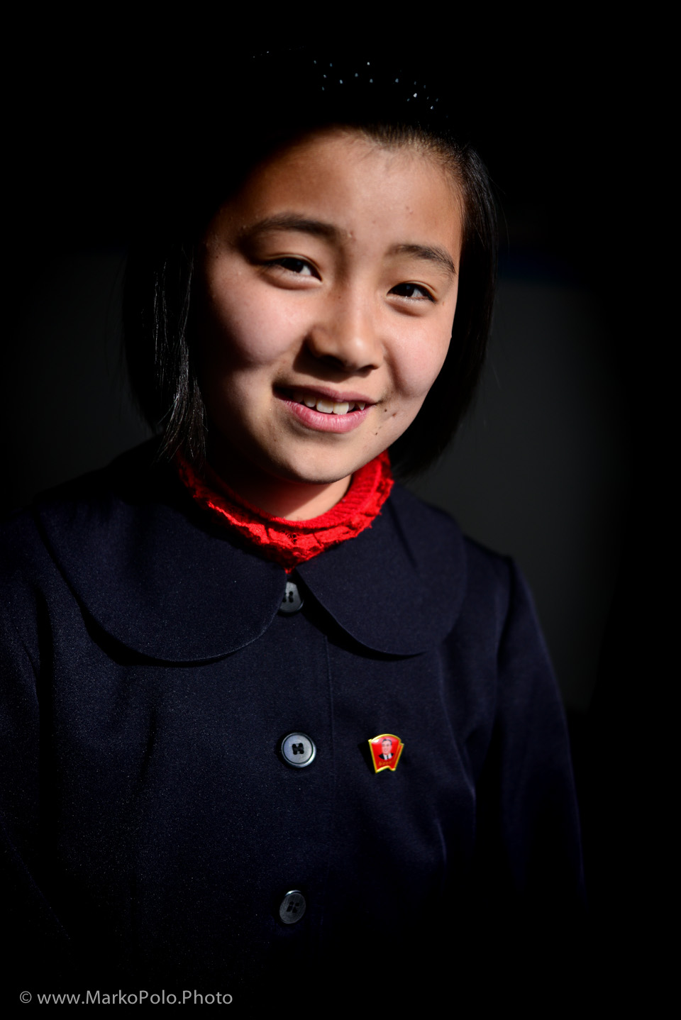 One of the girls from the class.  One of my favorite photographs from DPRK on that trip