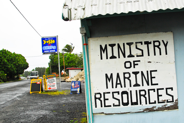 Cook Islands (1) - Fish & Chips from the Ministry of Marine Resources in Raratonga