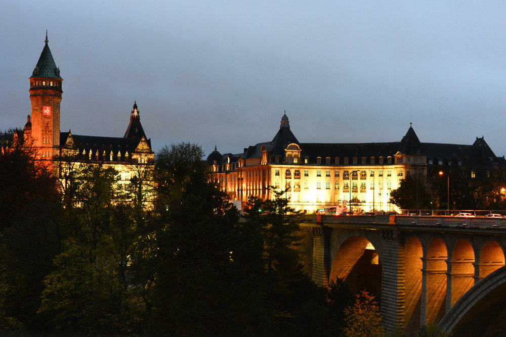 Luxembourg (1) - Luxemburg City at night