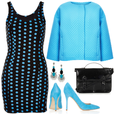 topshop, topshop dress, dress, bodycon dress, jacket, quilted jacket, courts, court shoes, earrings, satchel, petite dress