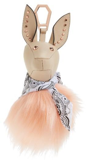 KENDALL + KYLIE Bambi Faux Fur Bag Charm -