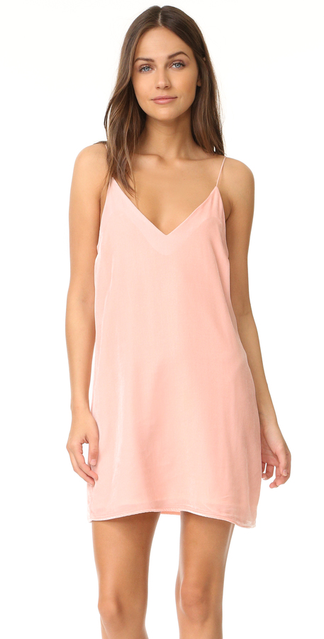 Amanda Uprichard Kendall Velvet Slip Dress -