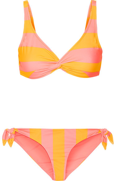Solid and Striped The Jane Striped Triangle Bikini -