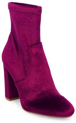 Steve Madden Brisk Velvet Ankle Boots -