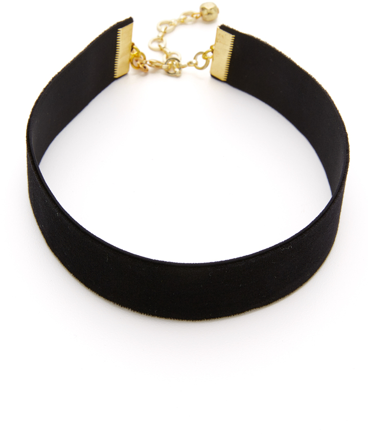 Vanessa Mooney Velvet Choker Necklace -