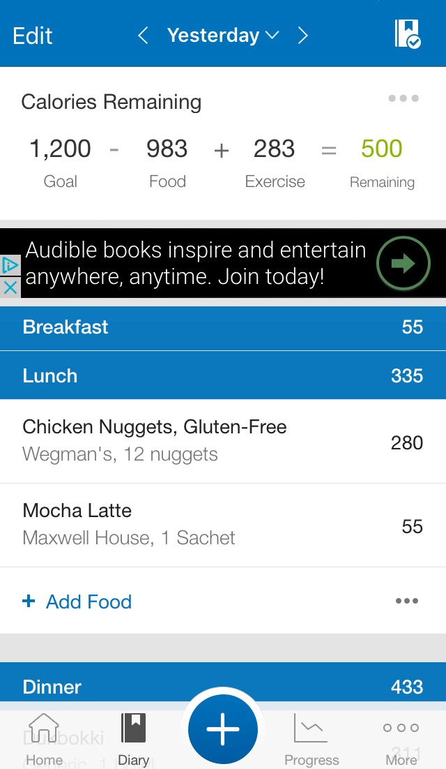 MyFitnessPal - You've probably heard of this app and you're probably also using it better than me. It's been a few days since I've updated the app with my meals, but it was also a holiday weekend so I didn't really want to think about all the basura I was putting into my body. BUT I still do want to keep track of my health and my foods since it's good for me to remember what I've recently eaten in case I get sick, and it also helps me see what foods make me feel good or bad. I'm not really trying to lose weight (I don't even own a scale lol) but it is helping me see where my calories are coming from on the days that I happen to care, and it's also a good app to keep track of any exercises I'm doing (a rare but hopefully growing occurrence in my life). Before you get alarmed at my