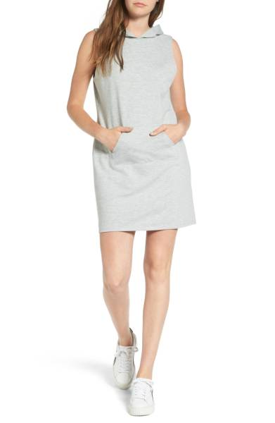 Love, Fire French Terry Hoodie Dress -