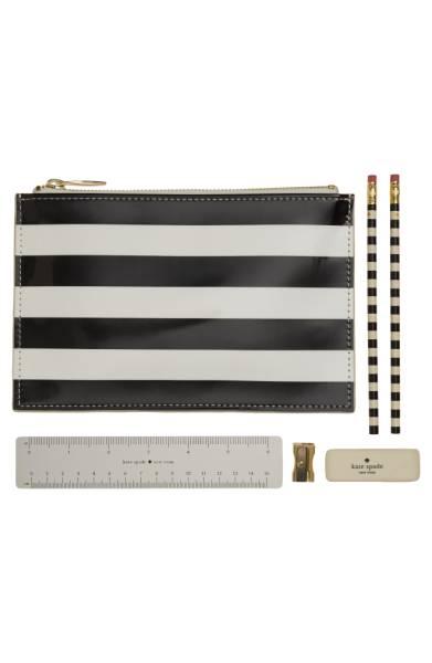 kate spade new york Stripe Pencil Pouch Set -