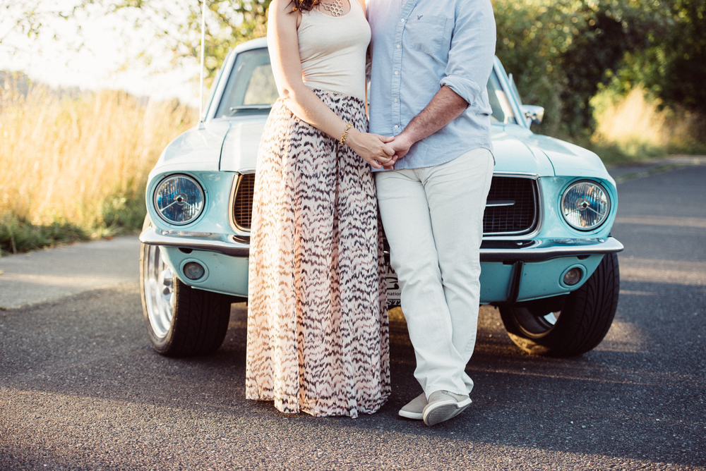 mustang-classic-car-engagement-seattle-olympia-wedding-photographer-engagement-ideas