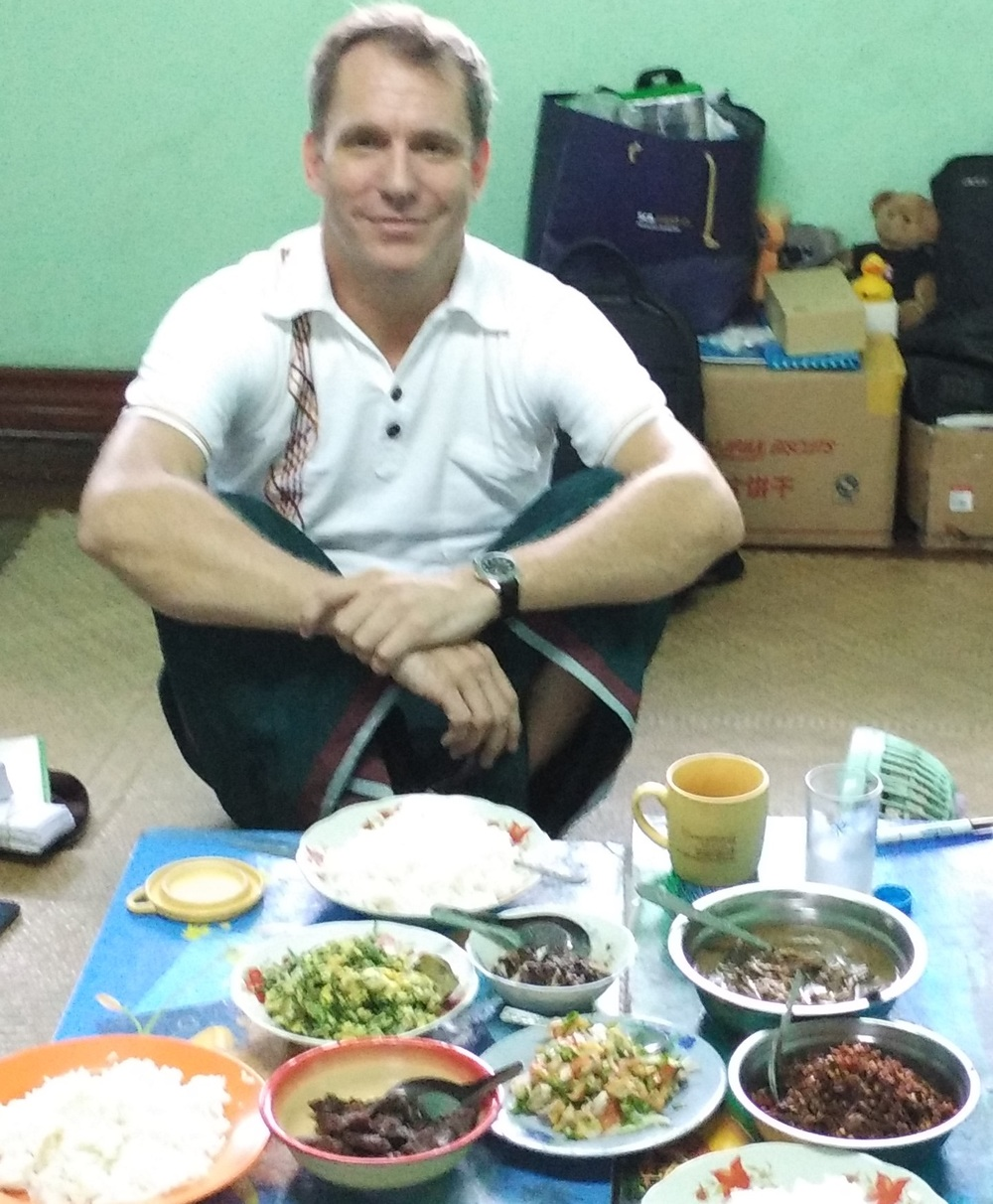 you'd look smug, too, if you were about to eat a Burmese feast...
