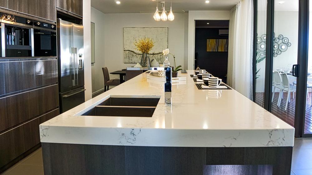 Caesarstone® engineered stone & Natural Stone vs. Engineered Stone for Kitchen and Bathroom Bench ...