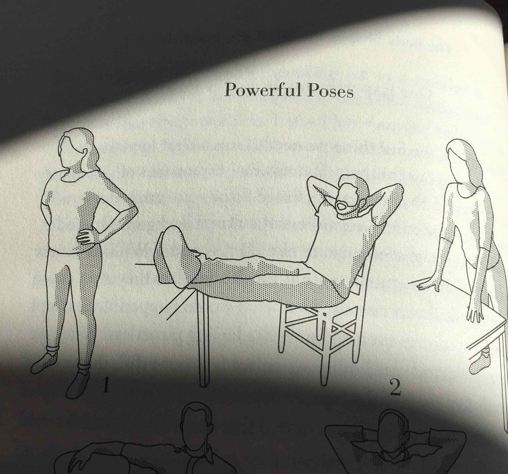 """Image from Amy Cuddy's book """"Presence - Bringing your Boldest Self to your Biggest Challenges"""""""