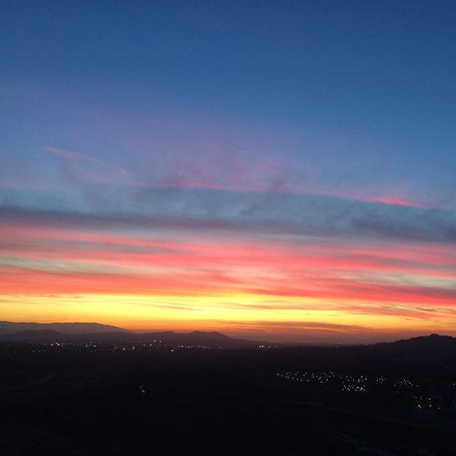 Another tour memory. The sunset viewed from Mt. Rubidoux, Riverside, CA. #ustour2016 #california #sunset #ohthemhills