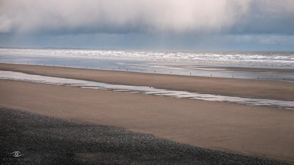Approaching storm at Murlough beach