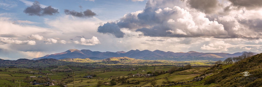 View of the Mournes from the Windy Gap