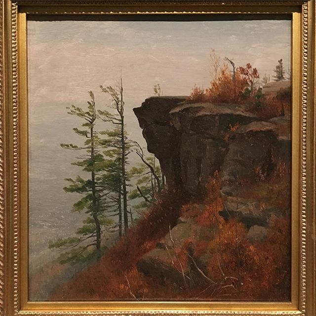 At #thomascole. Really amazing paintings of #sanfordgifford
