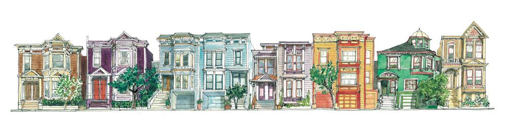Guerrero street. San Francisco. Format 50x15 cm. (Copyright ADAGP)