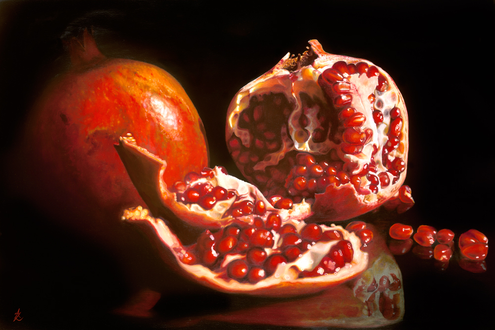 Pomegranate - Limited Edition Reproduction of 100Image size 44 x 66cms