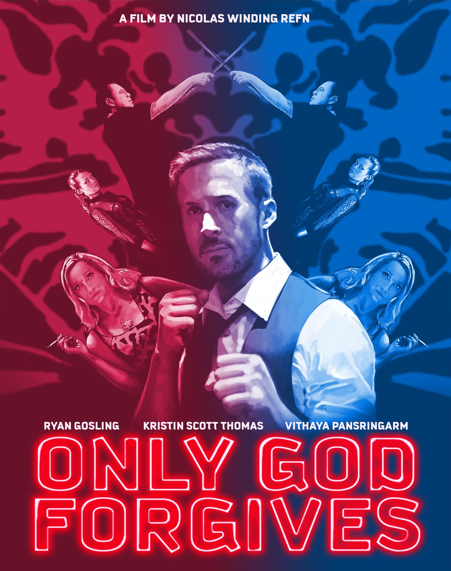 Only God Forgives Neon Poster Traffik Cone Design