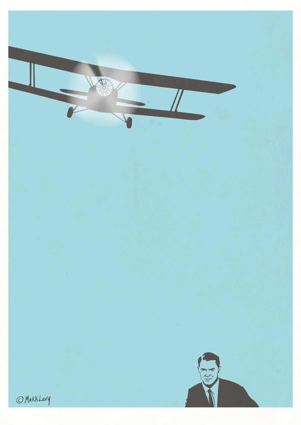 Ain't Like Dusting Crops by Mark Levy (print inspired by North by Northwest)
