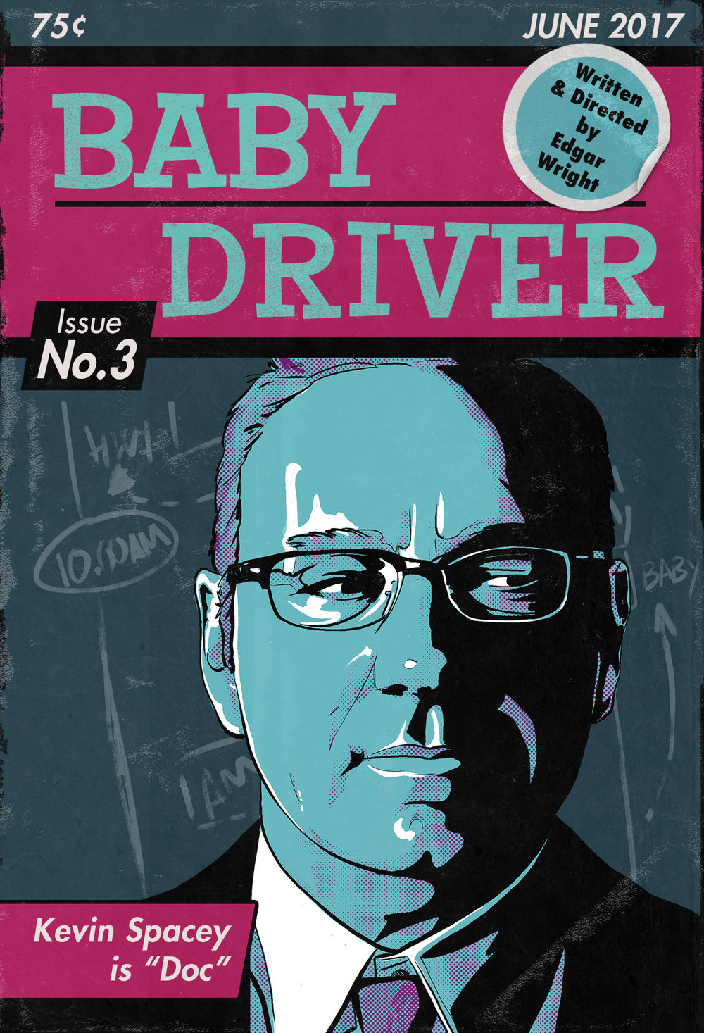 Baby Driver Poster No. 3 - Kevin Spacey