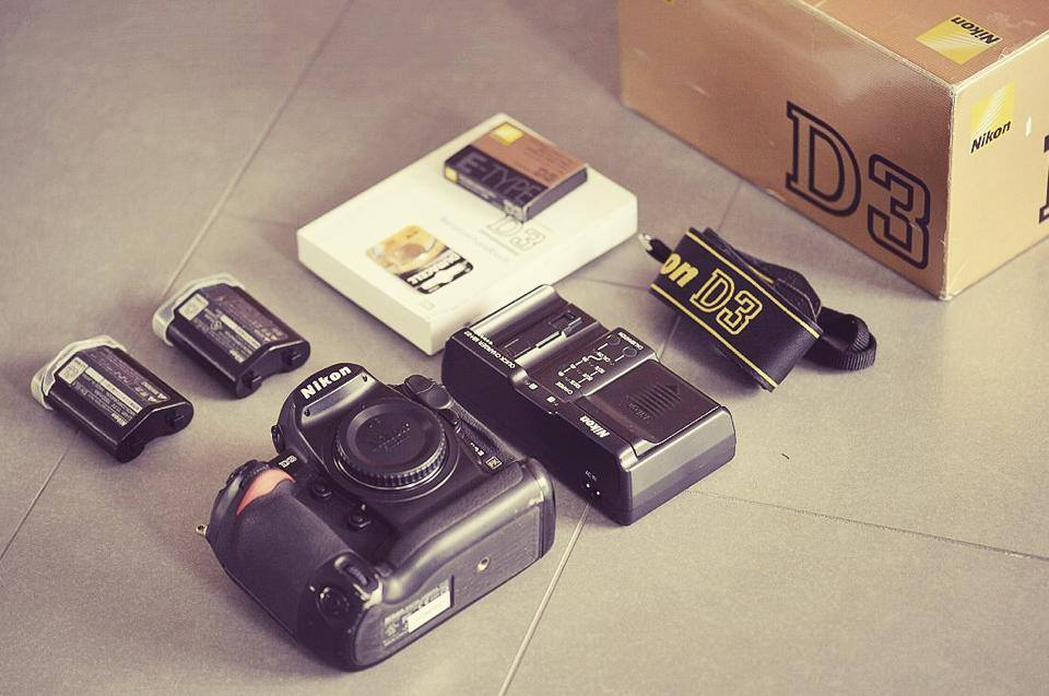 Meine erste Vollformatkamera, eine Nikon D3.