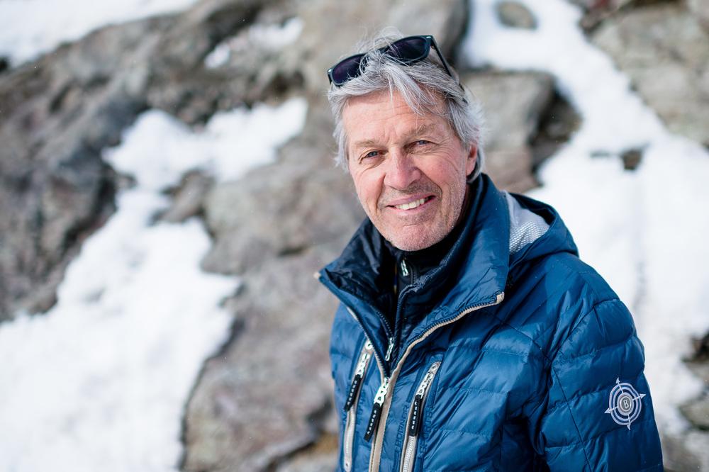 15.03.2016; St.Moritz; Ski alpin World Cup Final 2016 - Bernhard Russi fotografiert während der Medien Besichtigung des Freefall Starts. (Manuel Lopez/freshfocus)
