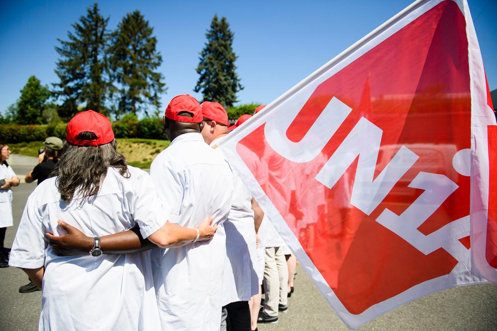 SUISSE UNIA PROTEST
