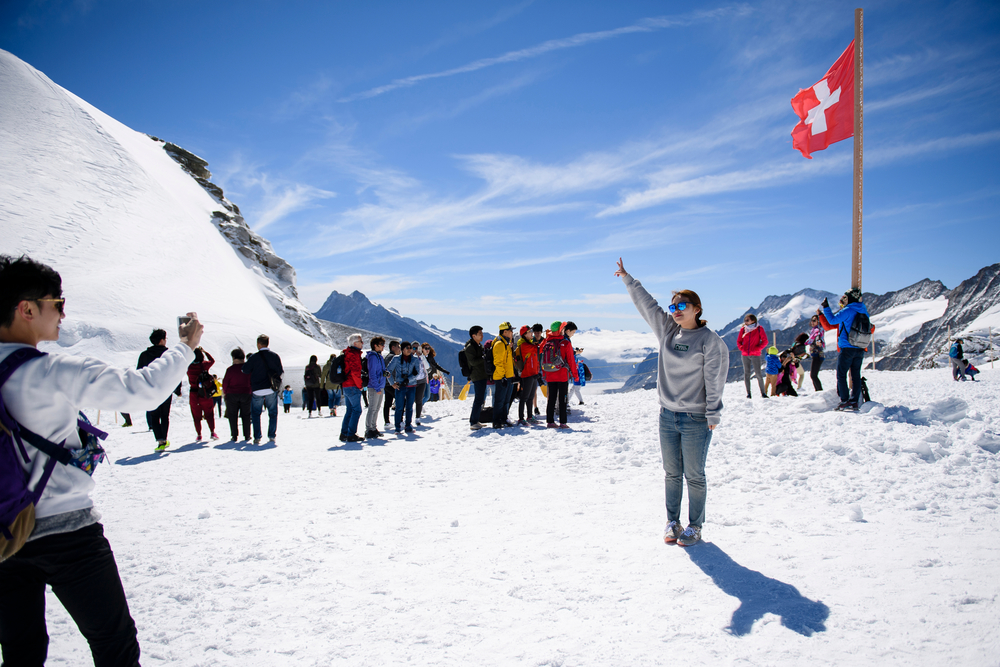 SWITZERLAND JUNGFRAUJOCH TOURISTS