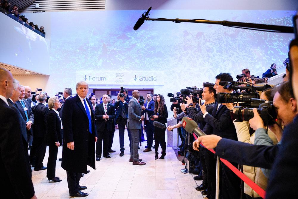 Donald Trump at the Congress Center Davos
