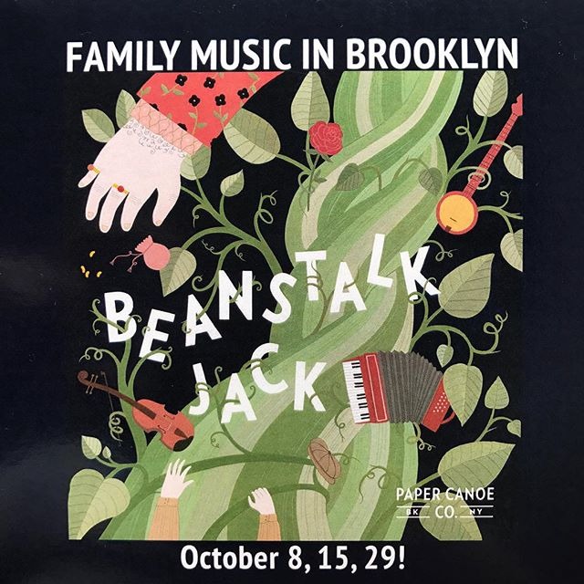 Come visit us at @triskelionarts this Sunday at 11am! Tickets are on sale our website. #brooklyn #familymusic #concert #jackandthebeanstalk #beanstalkjack