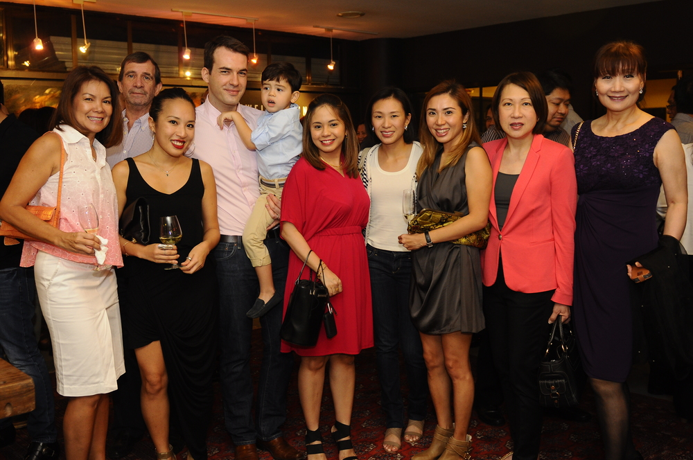 L to R = Rose and Michael Hennessy, Jewelle Yeung, Wolf, Kristalle and Harvey Kekert, Kaye Luym Sala, Carla Yeung, Elvira Luym and Bo Hauri.JPG