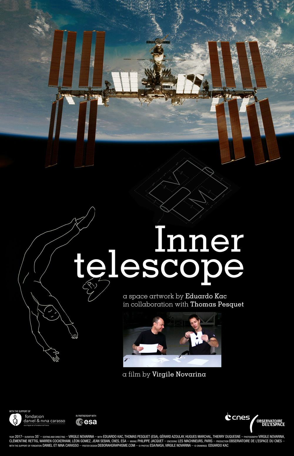 Inner telescope - A film by Virgil Novarina,A production of the Space Observatory, the CNES laboratoryfor science. Camera: Virgile Novarina, Clémentine Rettig, Warren Cockerham, Thomas Pesquet, Léon Gomez, Jean Seban