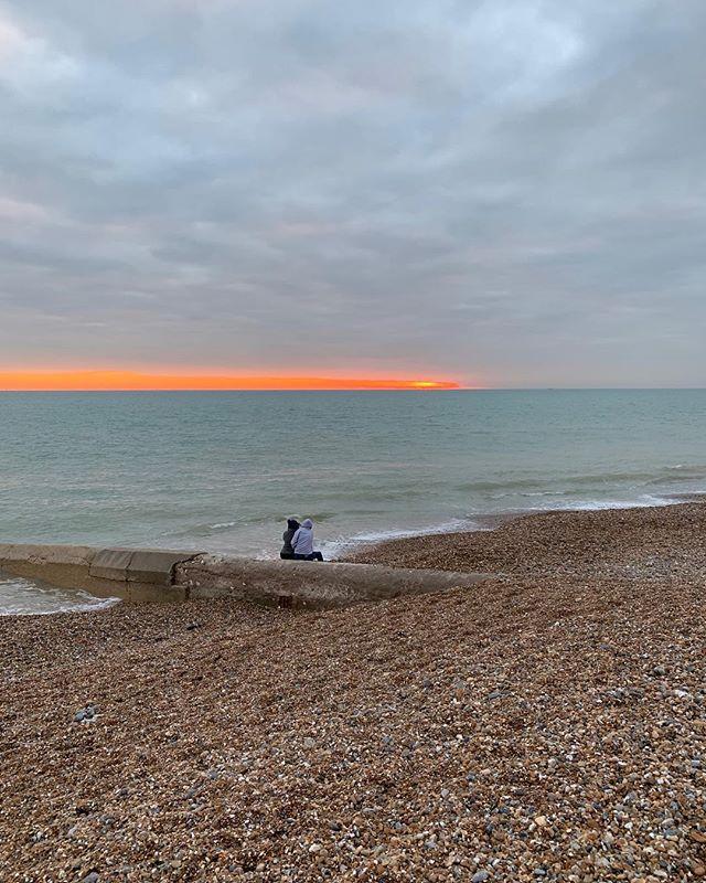 More of the amazing sunset sky in Brighton yesterday . . . . #brighton #seafront #moody #sky #promenade #moodyblue #sea #beach #timeoff #walk #walking #walkingbythesea #orange #blue #nature #amazingnature #feelinggood #photography #photooftheday #sunset
