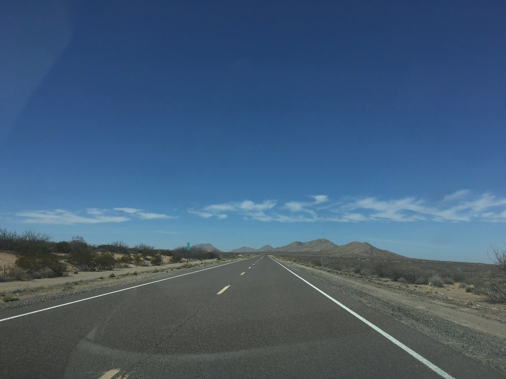 West of El Paso: the view as I set out on New Mexico State Road 9.