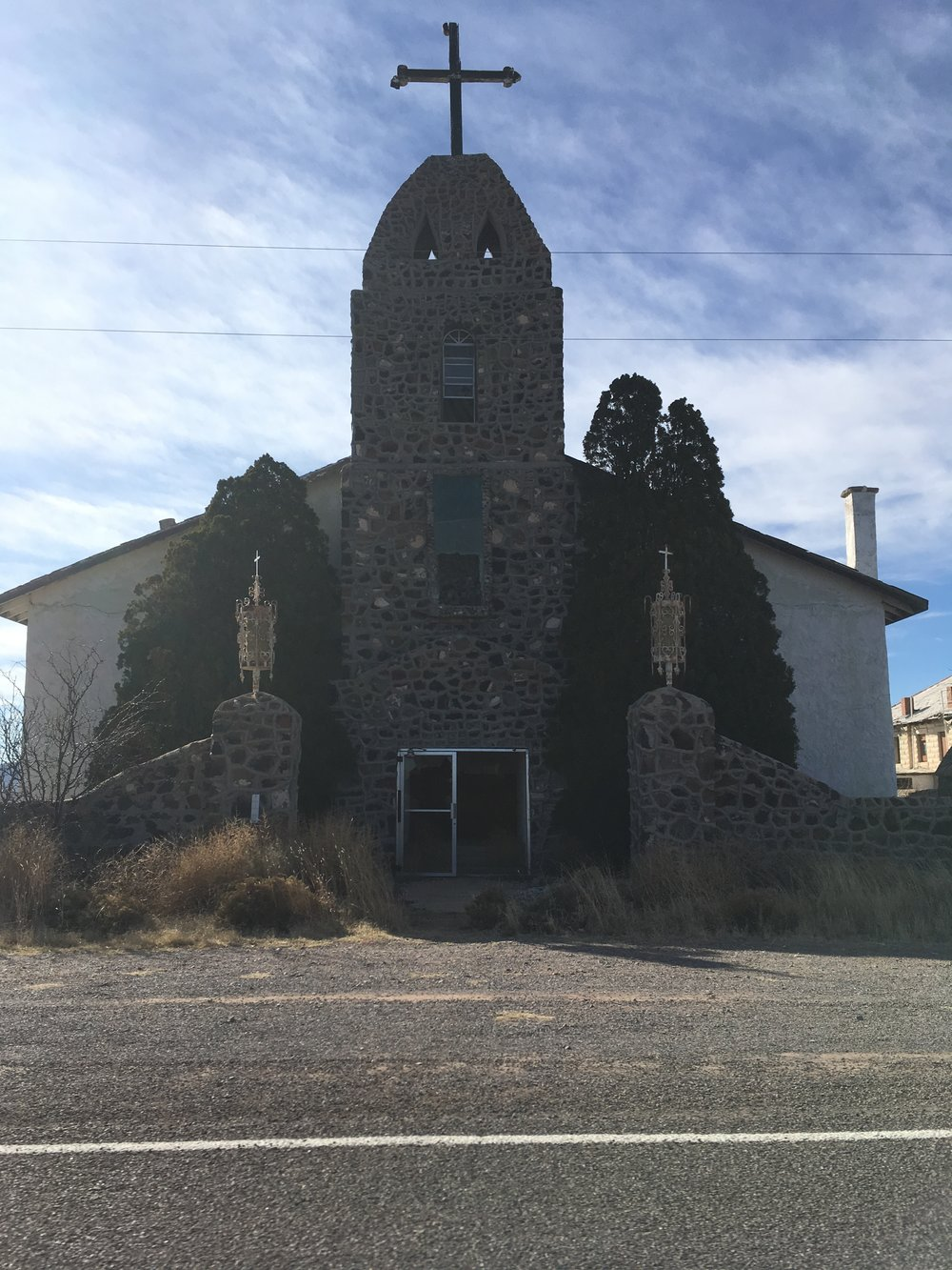 Hachita's abandoned church
