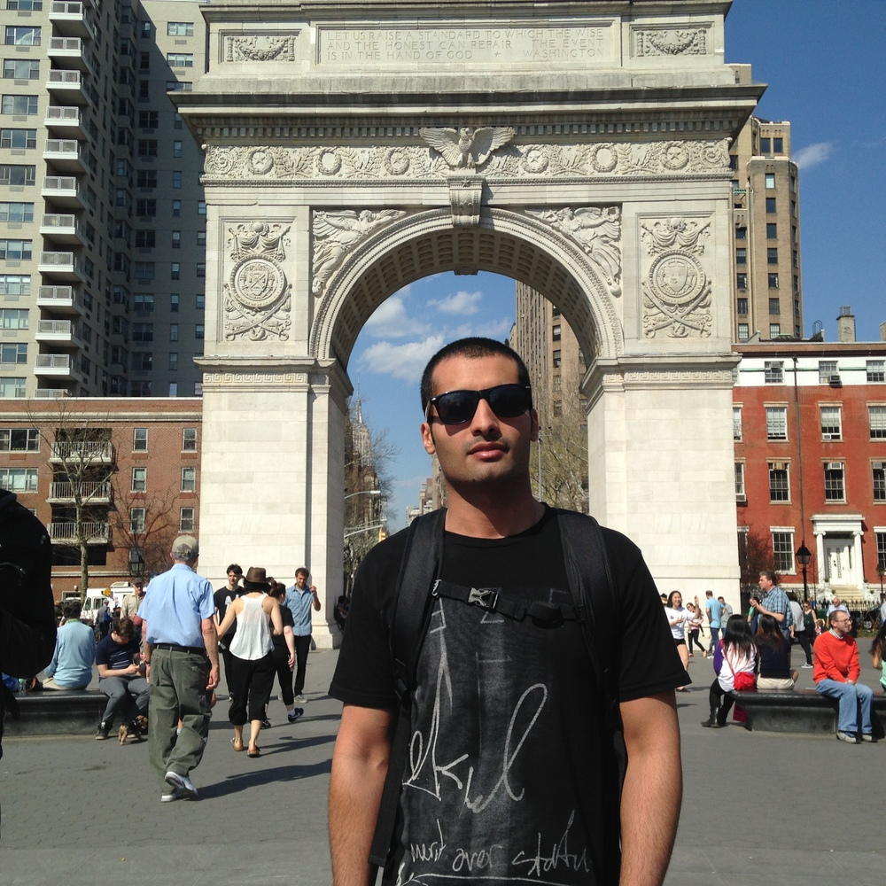 Abrahim Alfawzan. Washington Square Park, New York City. April 18, 2015.