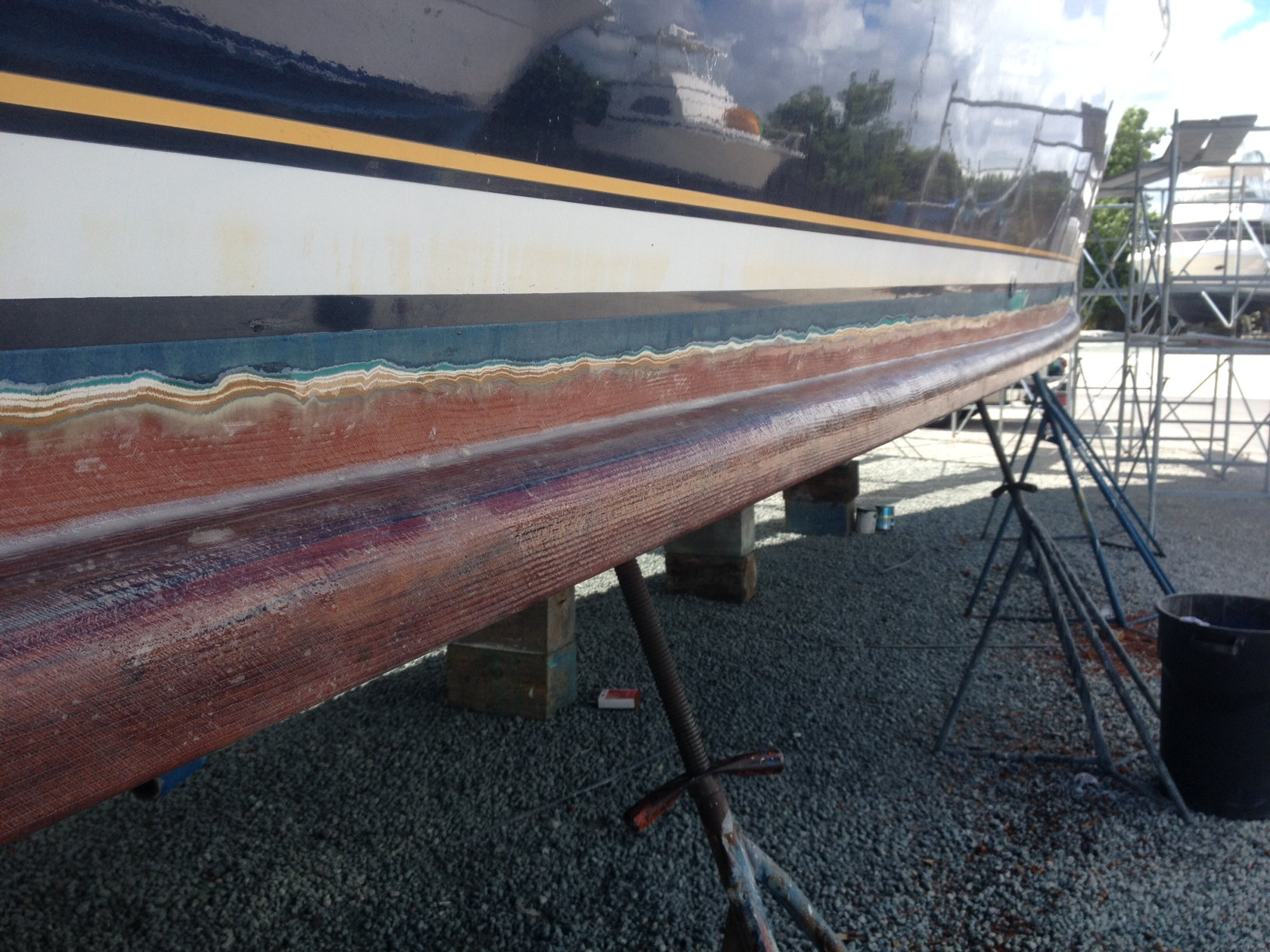 Routed scarf joint repair on Lydia toe rail