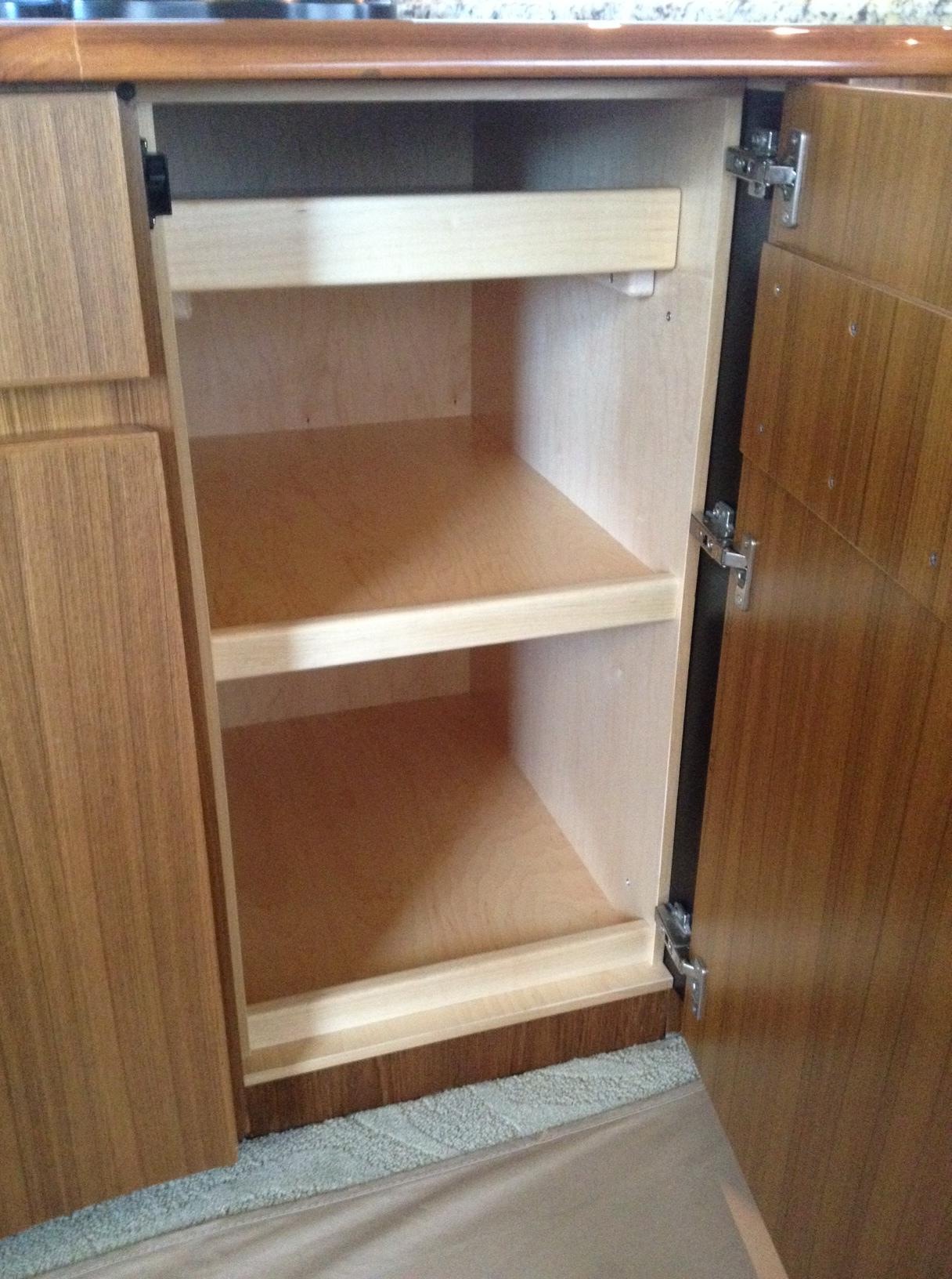 Salon ice maker cabinet conversion