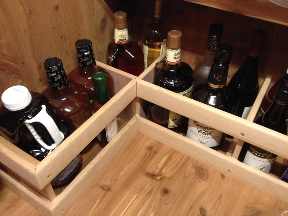 Custom Liquor Bottle Storage